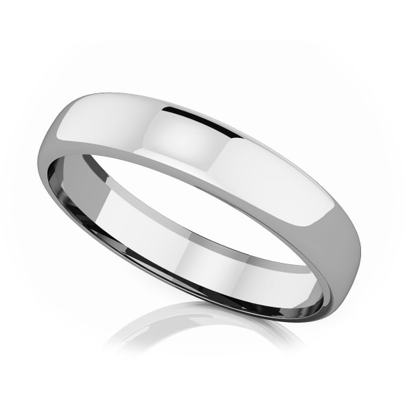 แหวนPlatinum - 4.50 mm Domed shape romantic classic band