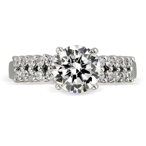 แหวนทอง 18K ประดับเพชร น้ำหนักรวม 1.20 กะรัต ค่าสี D ค่าความสะอาด VS1