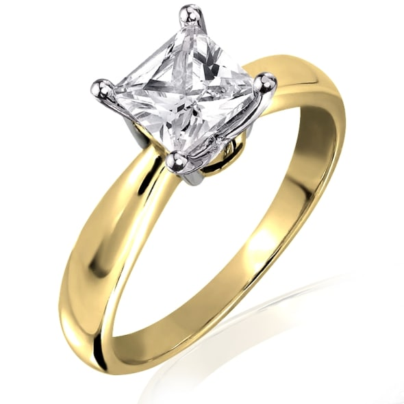 แหวนทอง 18K ประดับเพชร น้ำหนักรวม 1.13 กะรัต ค่าสี E ค่าความสะอาด VVS2 EX/EX เพชรมาพร้อมใบรับรองจากสถาบัน IGL