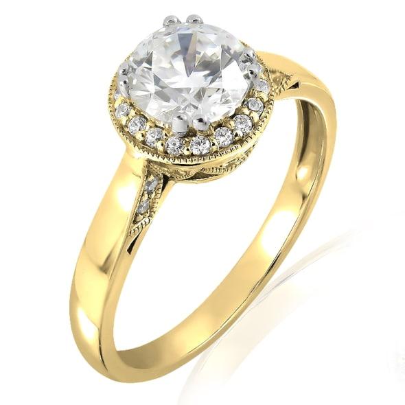 แหวนทอง 18K ประดับเพชร น้ำหนักรวม 1.03 กะรัต ค่าสี F ค่าความสะอาด VVS2 EX/EX/EX เพชรมาพร้อมใบรับรองจาก IGL