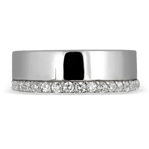 แหวนทอง 18K  ประดับเพชร น้ำหนักรวม 0.30 กะรัต ค่าสี F ค่าความสะอาด VS2