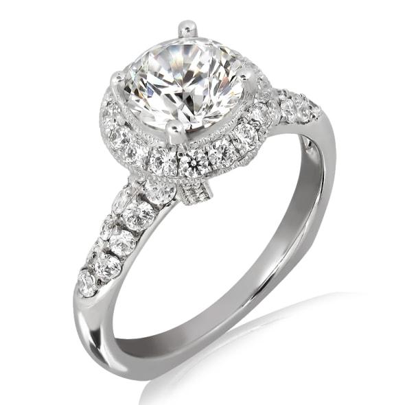 แหวนทอง 18K ประดับเพชร น้ำหนักรวม 1.15 กะรัต ค่าสี D ค่าความสะอาด VVS2 EX/EX/EX เพชรมาพร้อมใบรับรองจาก GIA