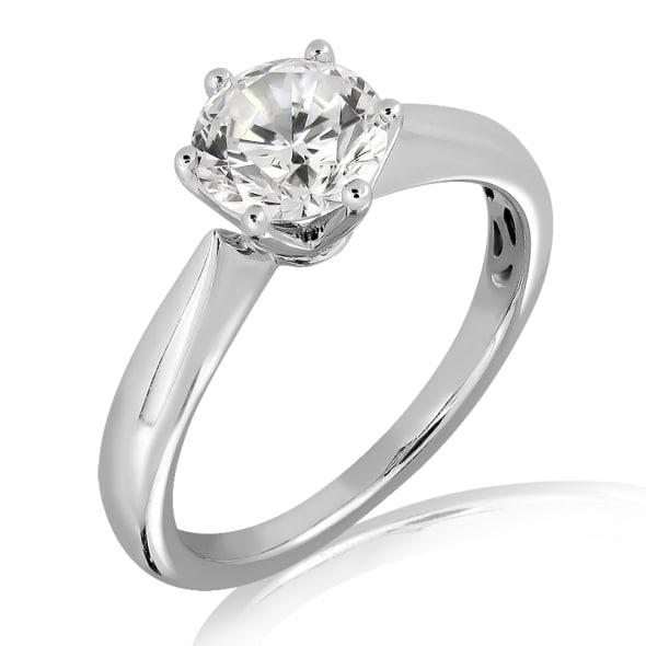 แหวนทอง 18K ประดับเพชร น้ำหนักรวม 0.30 กะรัต ค่าสี E ค่าความสะอาด VS1 EX/EX/EX เพชรมาพร้อมใบรับรองจากสถาบัน GIA