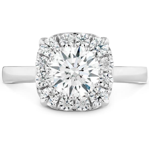 แหวนทอง 18K ประดับเพชร น้ำหนักรวม 0.50 กะรัต ค่าสี G ค่าความสะอาด VS2 EX/EX/EX เพชรมาพร้อมใบรับรองจาก GIA