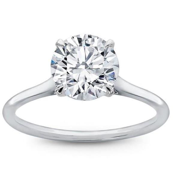 แหวนทอง 18K ประดับเพชร น้ำหนักรวม 1.11 กะรัต ค่าสี D ค่าความสะอาด IF EX/EX/EX เพชรมาพร้อมใบรับรองจาก GIA