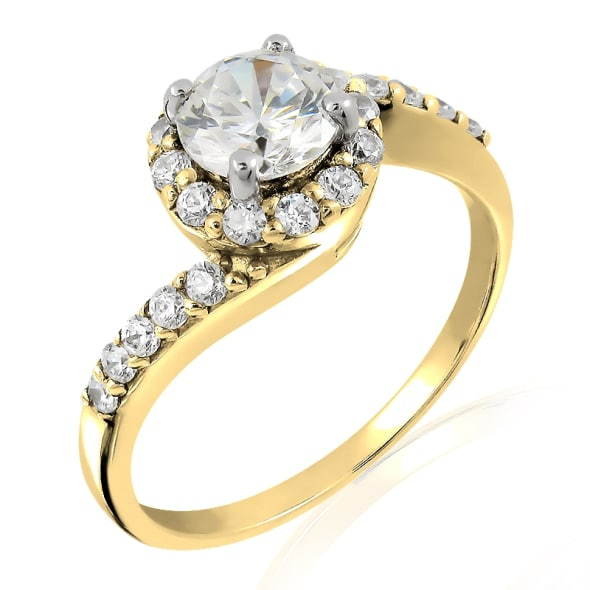 18K Gold and 0.70 Carat D Color VS2 Clarity EX/EX/EX GIA Certified Diamond Ring