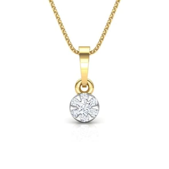 18K Gold and 0.08 carat Diamond Pendant