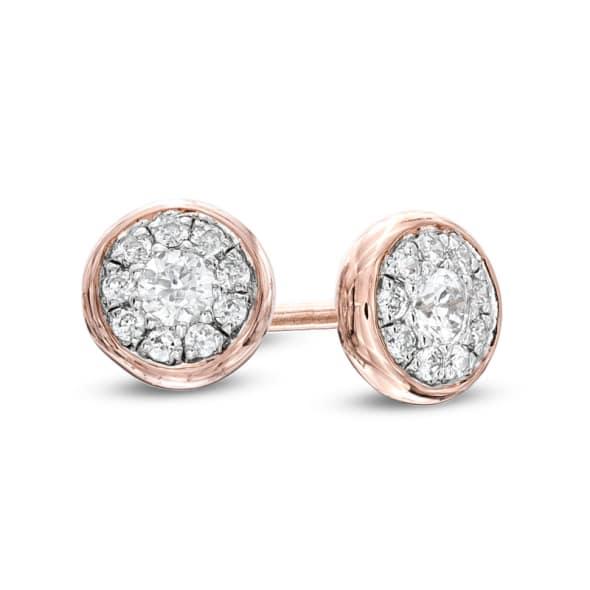 14K Gold and 0.15 Carat E (Nam 99) Color VS2 Clarity Diamond Earrings