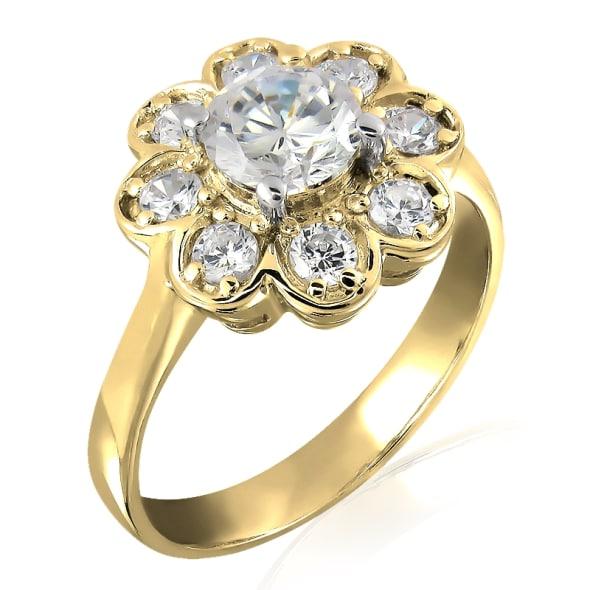 แหวนทอง 18K ประดับเพชร น้ำหนักรวม 0.75 กะรัต ค่าสี E ค่าความสะอาด VS2 เพชรมาพร้อมใบรับรองจาก GIA