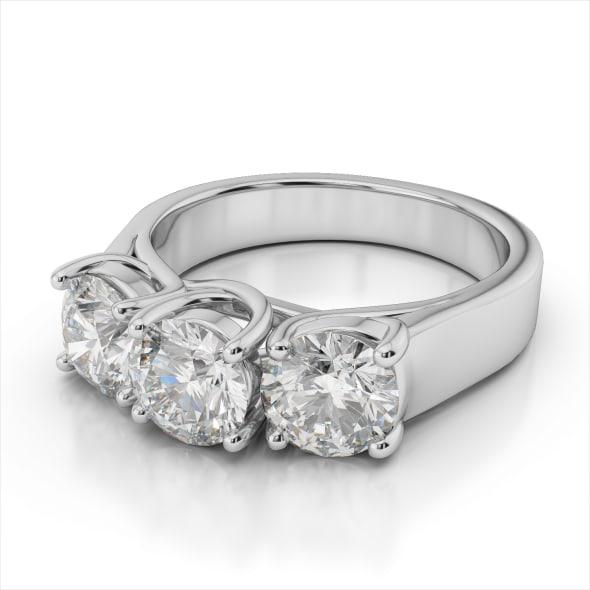 แหวนทอง 18K Gold ประดับเพชร น้ำหนักรวม 0.90  กะรัต ค่าสี G  ค่าความสะอาด VS2  EX/EX/EX เพชรมาพร้อมใบรับรองจากสถาบัน GIA