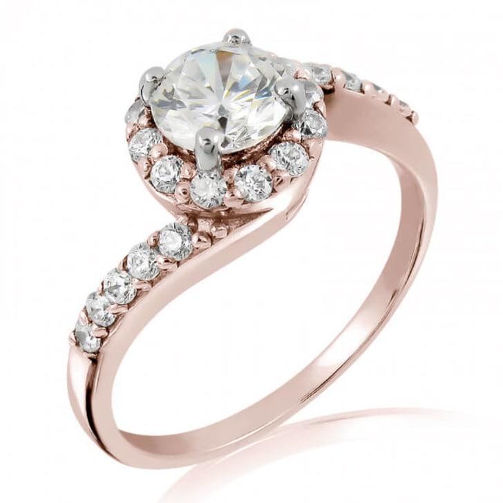 แหวนทอง 18K Rose Gold ประดับเพชร น้ำหนักรวม 0.70 กะรัต ค่าสี D ค่าความสะอาด VS2 EX/EX/EX เพชรมาพร้อมใบรับรองจาก GIA