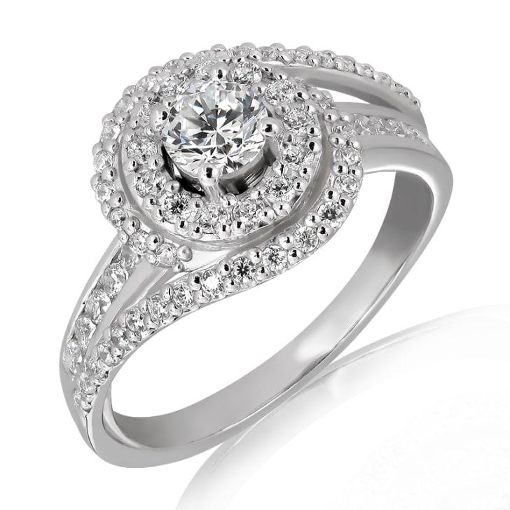 แหวนทอง 18K ประดับเพชร น้ำหนักรวม 1.00  กะรัต ค่าสี D  ค่าความสะอาด VS2 EX/EX/EX เพชรมาพร้อมใบรับรองจาก GIA