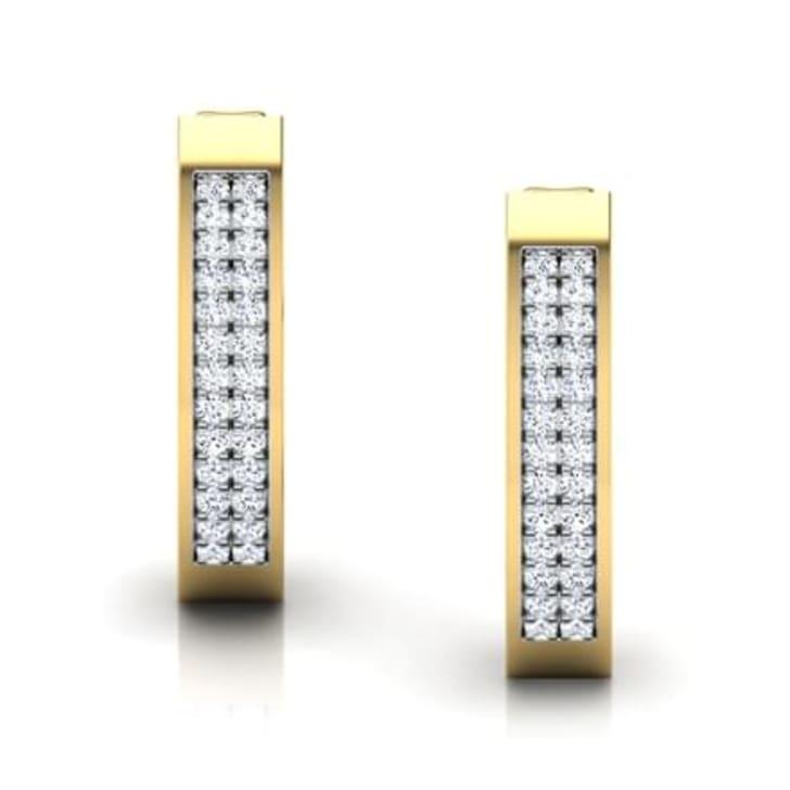 ต่างหูทอง 18K ประดับเพชร น้ำหนักรวม 0.17 กะรัต