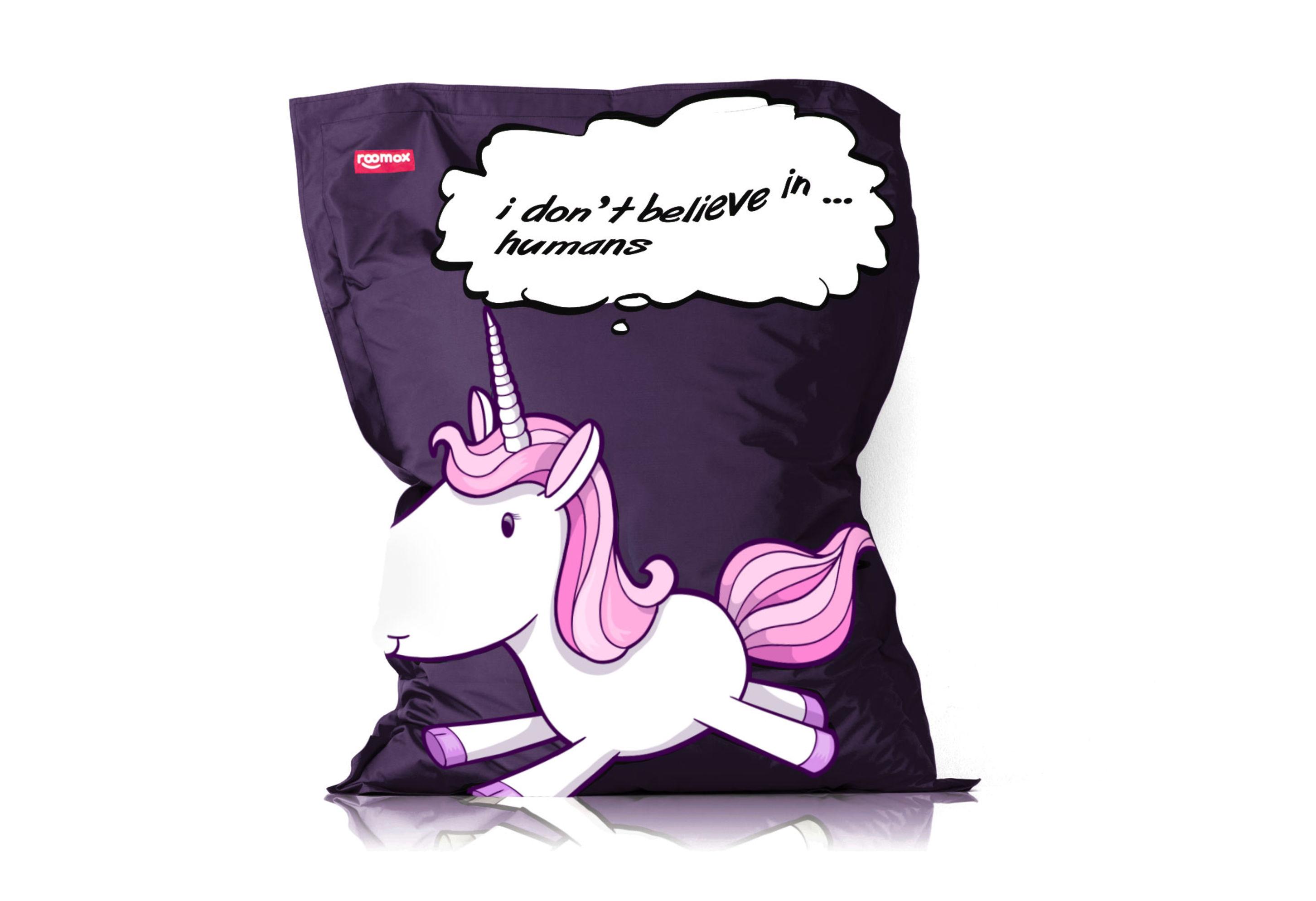Xxl Beanbag Roomox Special Edition Unicorn Print 160x120cm Dyh
