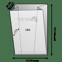 Woven Polypropylene - Gusseted Chaff Bag - (40 CM + 36 CM) x 122 CM