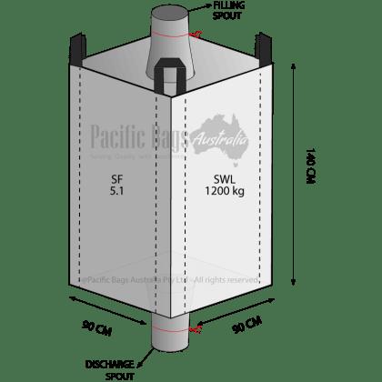 1.2 Tonne - Spout Top Spout Bottom - Bulk Bag