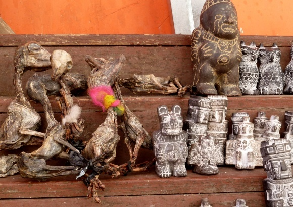 Gifts for Pachamama at the Witches' Market in La Paz - Tribal beliefs of the Incas