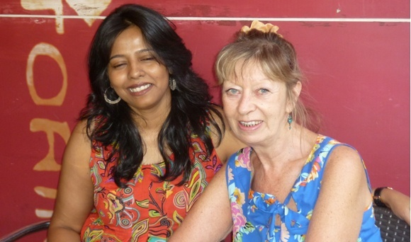 Enchanting Travels guest with Prathima, the trip coordinator.