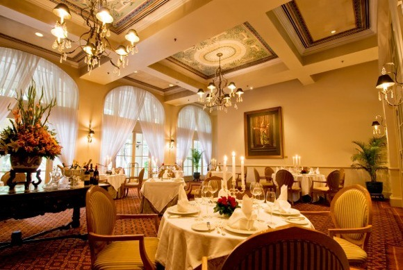 Cambodia's French Colonial Architecture - Hotel Le Royal, Dining Room