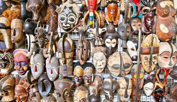 A mask shop in Masai Mara