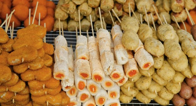 Southeast Asian street food: Snacks in Penang, Malaysia