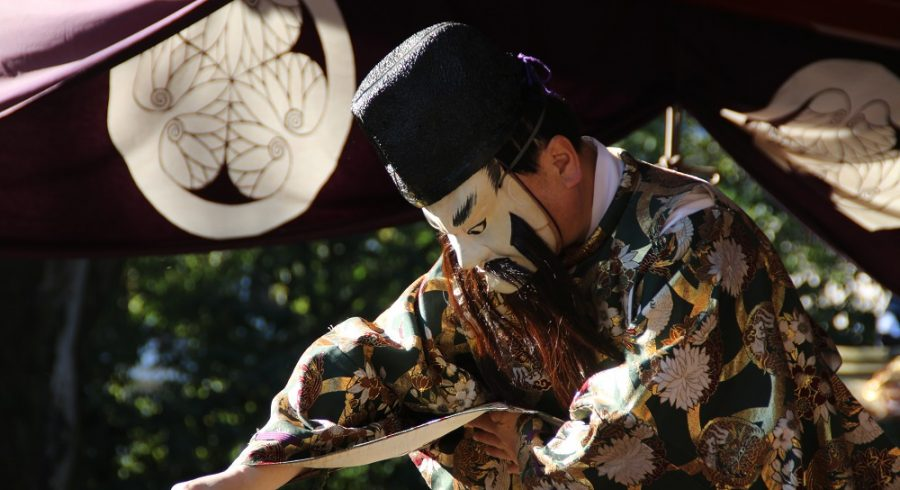 Kabuki theater is known for stylized drama and for the elaborate make-up worn by some of its performers.