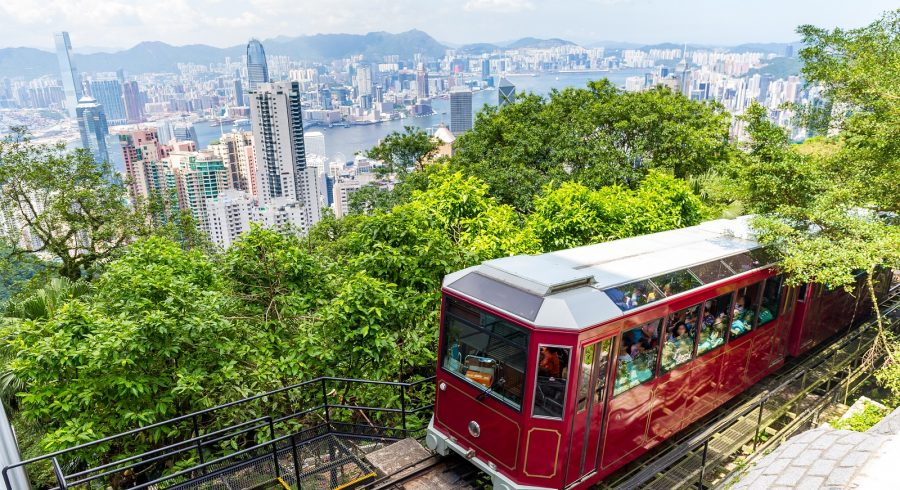 Peak Tram, Hong Kong City Skyline