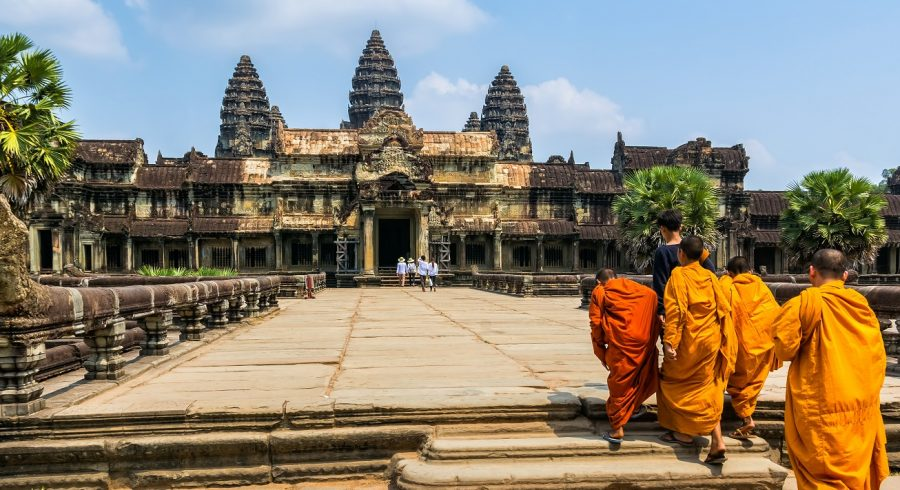 Amazing view of Angkor Wat is a temple complex in Cambodia and the largest religious monument in the world - Enchanting Travels Top 10 UNESCO World Heritage sites of 2019