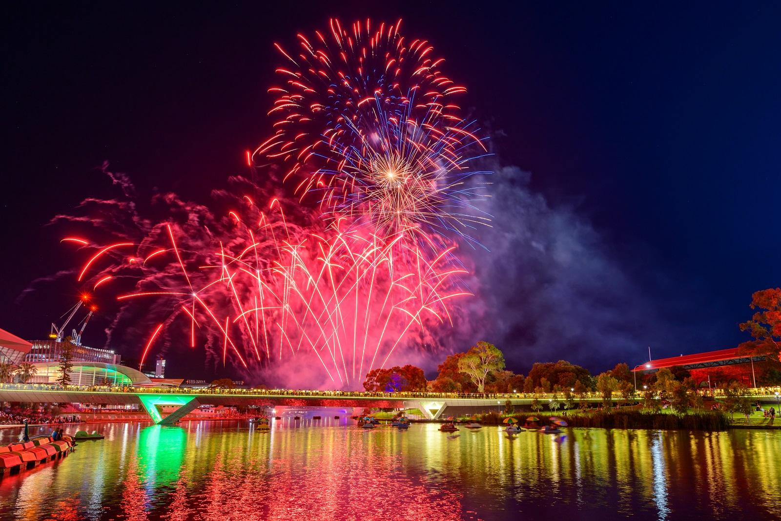 Australia Day fireworks in Adelaide