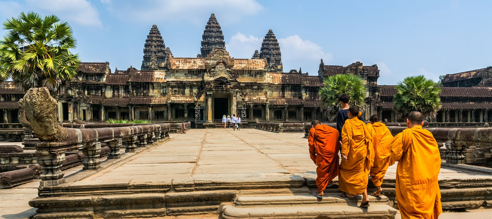 Amazing view of Angkor Wat is a temple complex in Cambodia and the largest religious monument in the world