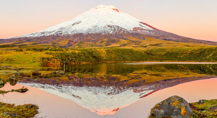 Cotopaxi-Volcano-Reflecting-In-Santo-Domingo-Lake