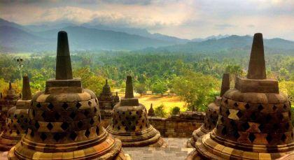 Borobudur in Indonesien