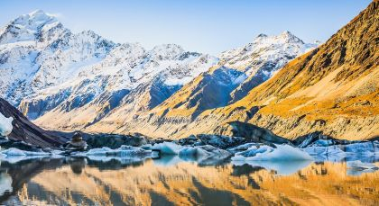 Destination Mt Cook in New Zealand
