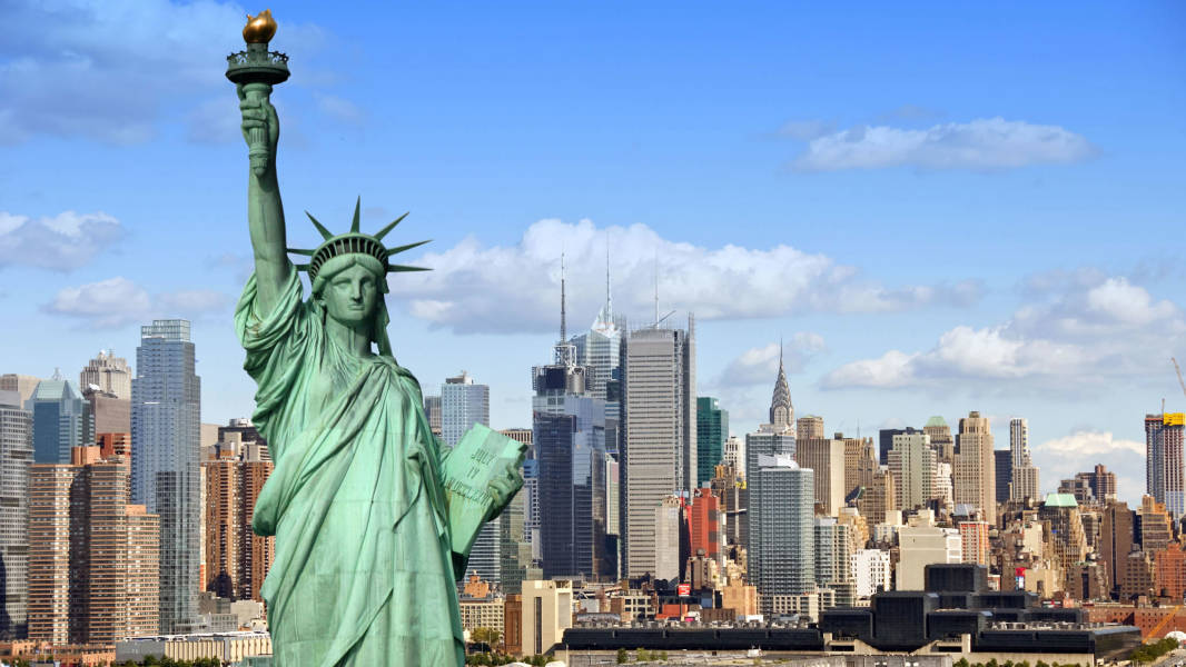 Statue of Liberty and City Skyline