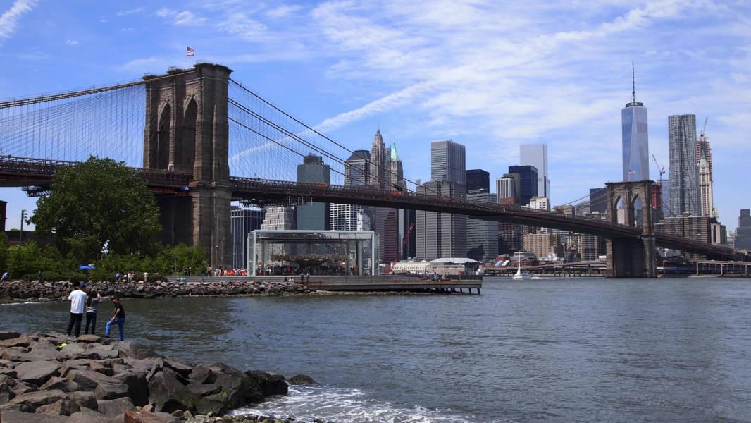 Brooklyn Bridge from the Shore