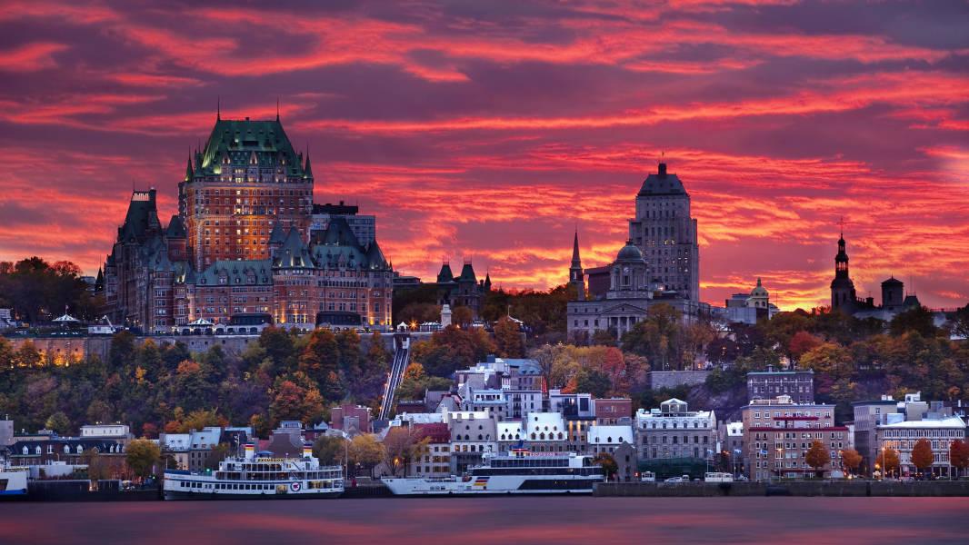 Old Québec at sunset