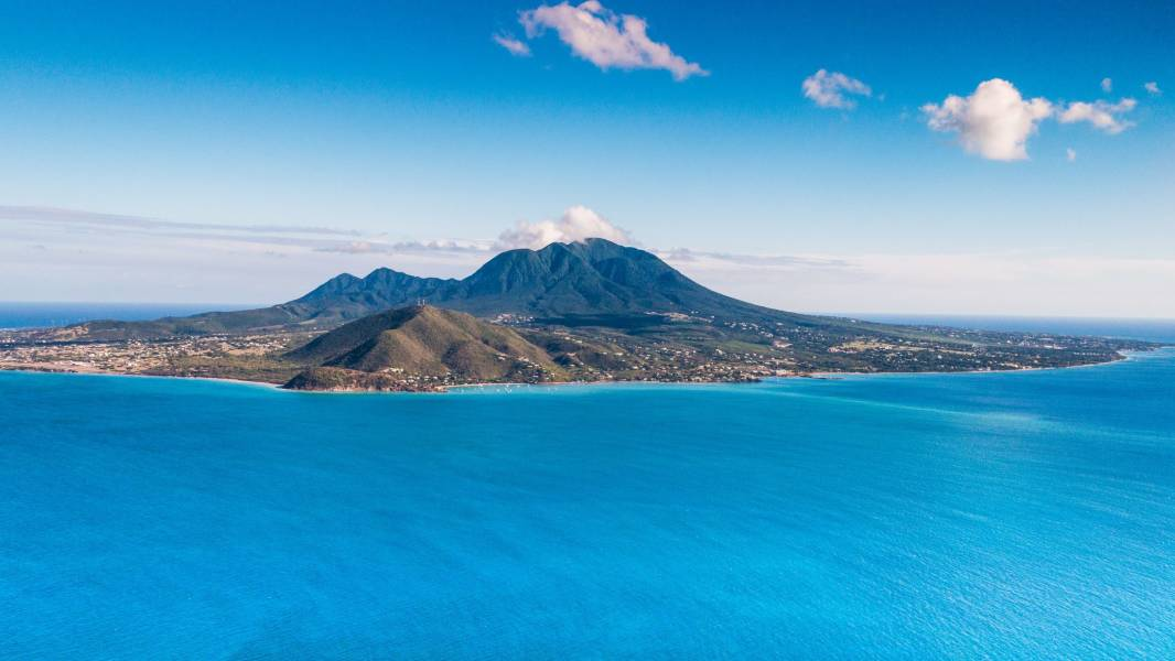 Aerial view of St. Kitts
