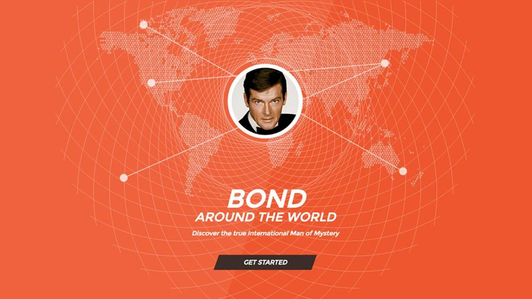 for web use only interactive james bond map logo created by blueclaw agency for seo and joe johnson