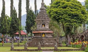 This is a photo of Ulun Danu Beratan Temple, Bali