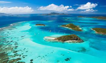 Tobago Cays Aerial View