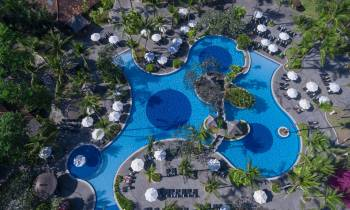this is a photo of the main pool at Melia Bali