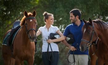 Sajjad Delafrooz riding a horse