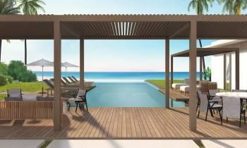 Beachfront Villa Main Pool and Beach