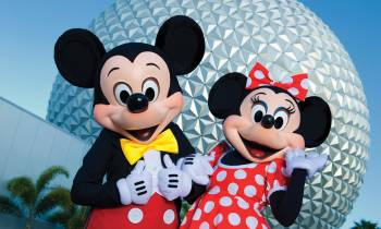 Mickey and Minnie at Epcot