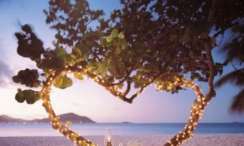 On beach dining
