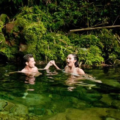 Rainforest river swim