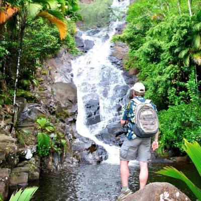 Port Glaud Waterfall, Seychelles