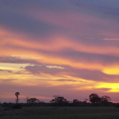 Sunset over Hwange National Park