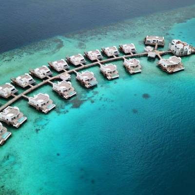 Water Villa Aerial