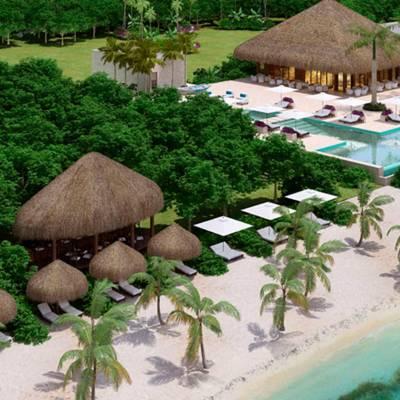 Resort and beach view - artist's impression